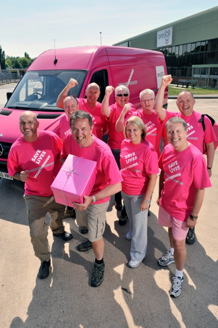 Dwain McDonald, DPD CEO, Breakthrough Breast Cancer, Pink Parcel Challenge